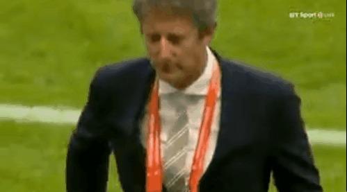 Реакция Ван Дер Сара всё еще на том же уровне! Ван Дер Сар, Манчестер Юнайтед, Аякс, Лига Европы, Гифка, Футбол
