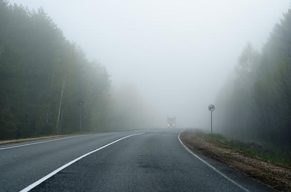Ночной туман туман, ночь, мгла, дорога, авто, фотография