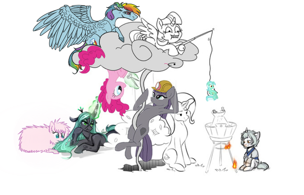 Дорисуй: TotallyNotANoob My little pony, Дорисуй-Mlp