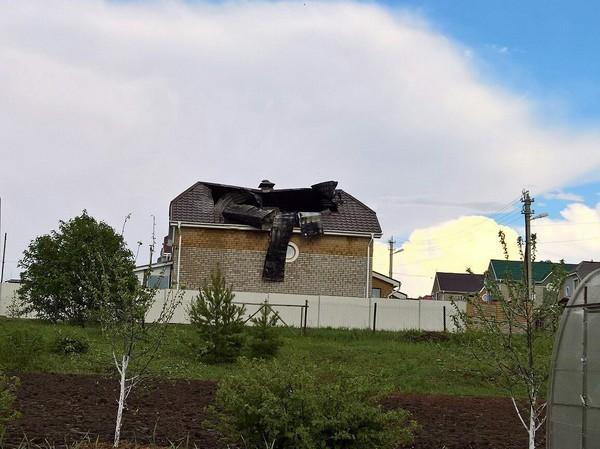 Вчера молния ударила в дом Молния, дом, можга, Удмуртия