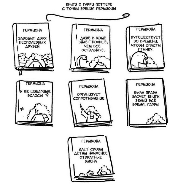 Книги о Гарри Поттере. Книги, Гарри Поттер, Комиксы, Гермиона, Рон Уизли, Точка зрения