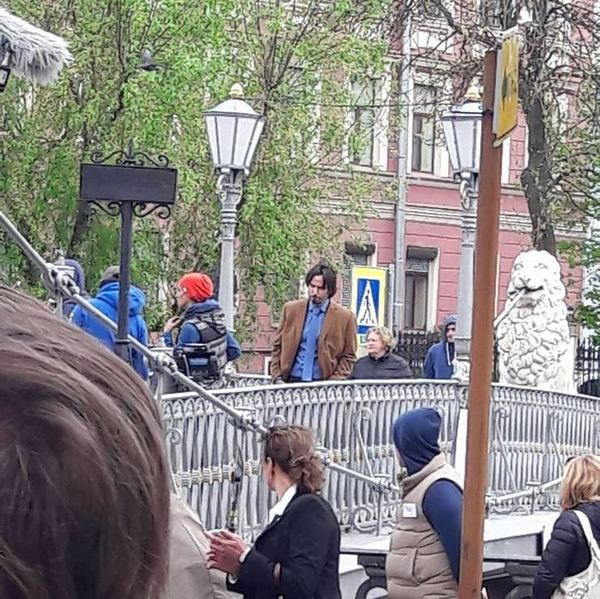 Пара фото с сегодняшних съемок Киану Ривза в Питере Папарацци, Фотография, Съемки, Киану ривз, Длиннопост