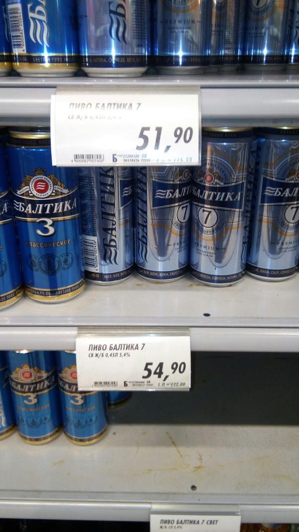 Трудный выбор Пиво, Супермаркет