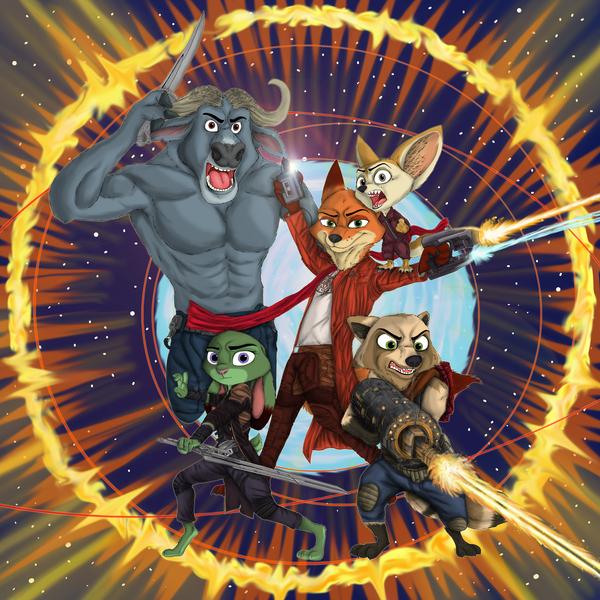 Zooguardians of the Galaxy Арт, Зверополис, Стражи галактики, ziegelzeig