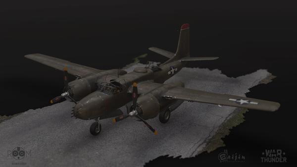 Мой самолет в игре WarThunder. A-26B a-26b, War Thunder, Самолет, Длиннопост