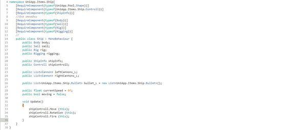 Кодовый парусный корабль #3 Код, Программирование, Unity, Gamedev, Разработка игр, Гифка, Длиннопост