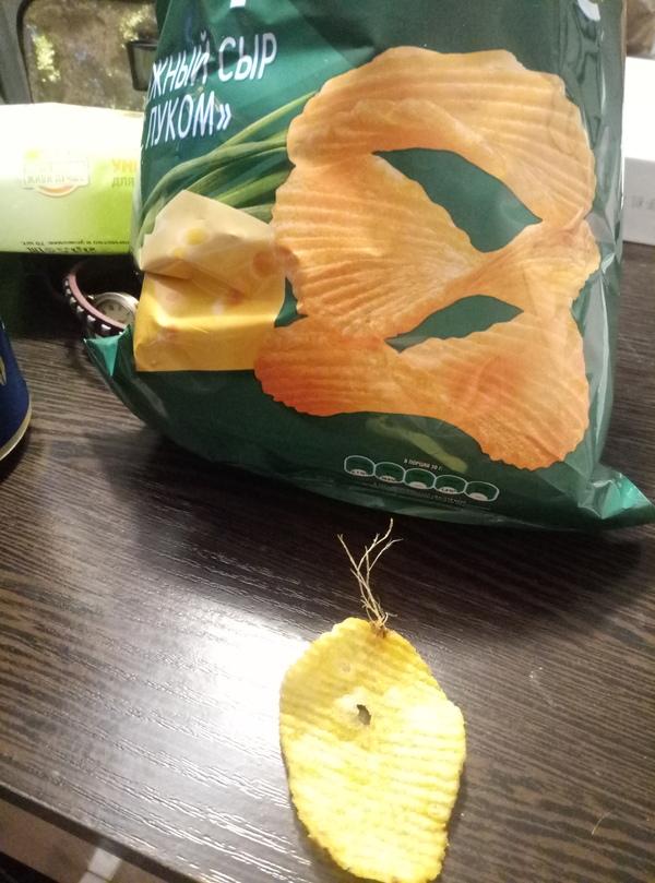 И правда натуральный картофель чипсы, картофель, чипса проросла, Lays, длиннопост