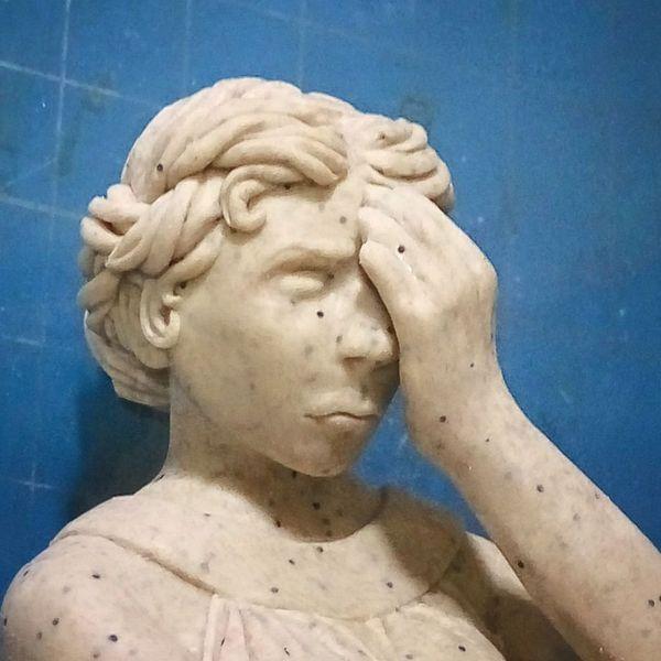 Плачущий ангел из полимерной глины Плачущие ангелы, Полимерная глина, Доктор кто, Срань господня, OlhaARTS, Длиннопост, Хувианы