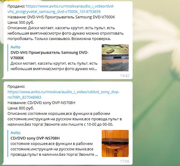 Бот, отслеживающий проданные товары на Авито Авито, Telegram бот, Программа, Telegram
