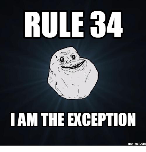 В каждом правиле есть исключение