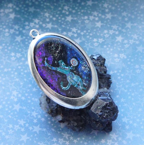Космо-шаман мистические украшения, космическое украшение, шаман, кот, космос, туманность, наркотики