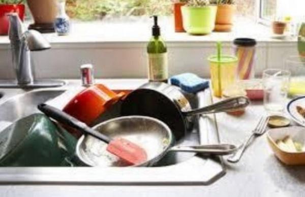 Как моют посуду в Америке Посуда, Мытье, Америка, Способ, Длиннопост
