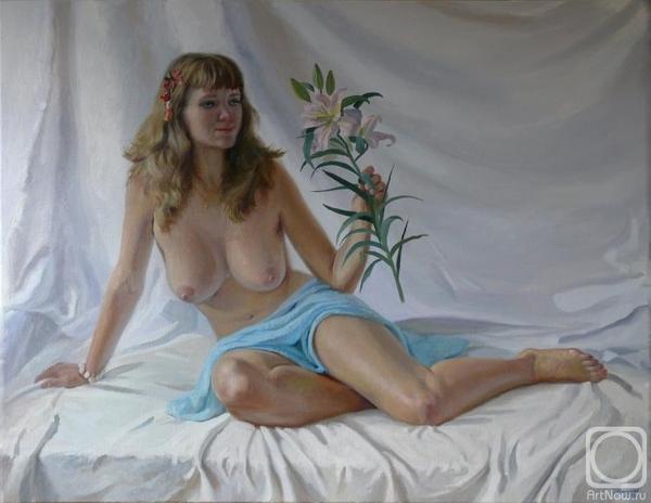 С цветами... не мое, картина, рисованная эротика