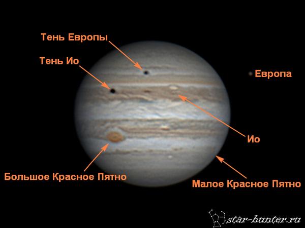 Две тени на Юпитере, 29 мая 2017 года. Юпитер, астрофото, астрономия, космос, starhunter, КраснодарБалкон, гифка, планета, длиннопост