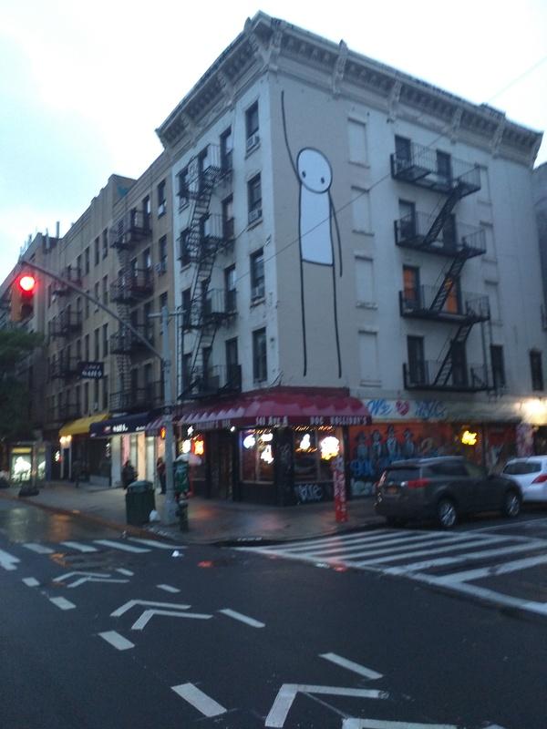 Привет! веселый человечек, граффити, Нью-Йорк, Привет, длиннопост