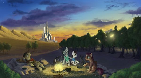 Тёмная башня до экранизации Темная башня, Crossover, Понификация, My little pony, Original Character, Zebra MLP