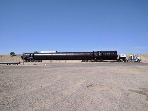 Очередная первая ступень Falcon 9 по пути из Калифорнии в Макгрегор космос, spacex, транспортировка, Falcon 9
