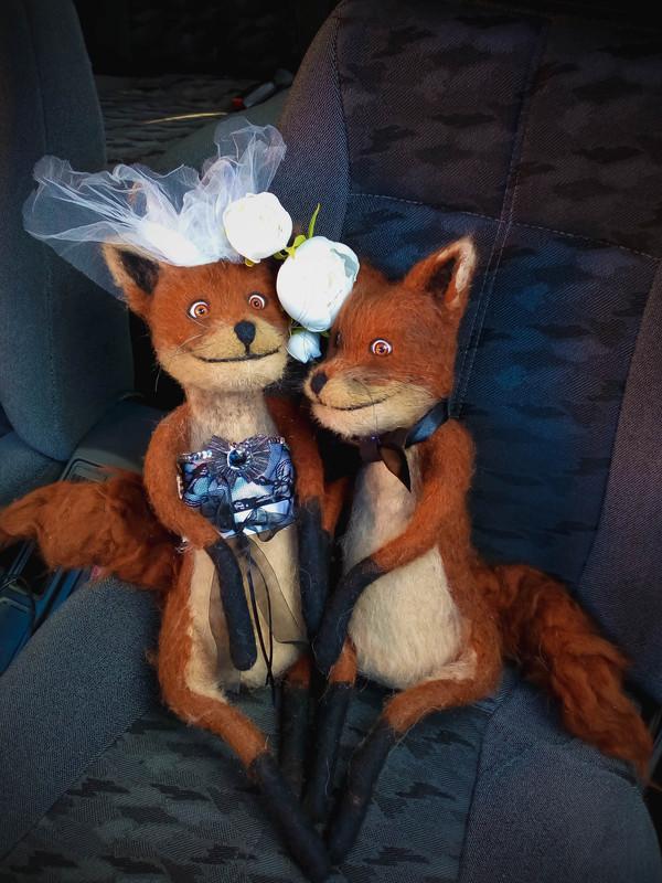 Свадебные фотографии шерстяных лисиц Валяние, Упоротый лис, Свадьба, Ручная работа, Лиса, Длиннопост