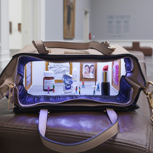 Миниатюрный музей в дамской сумочке миниатюра, Диорама, музей, женская сумка, длиннопост