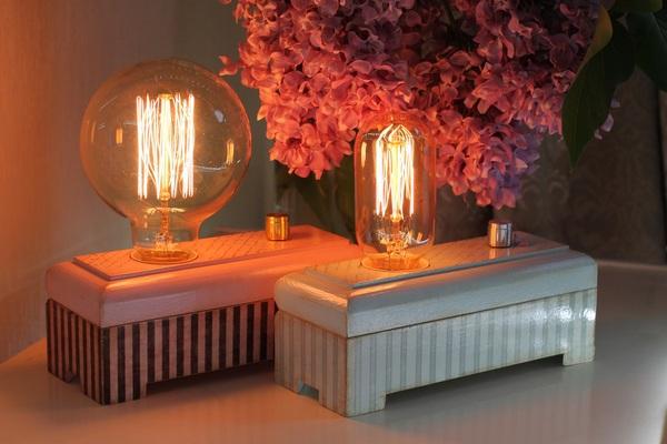 Светильники №5-6 Светильник, Ночник, Своими руками, лампа эдисона, винтаж, длиннопост
