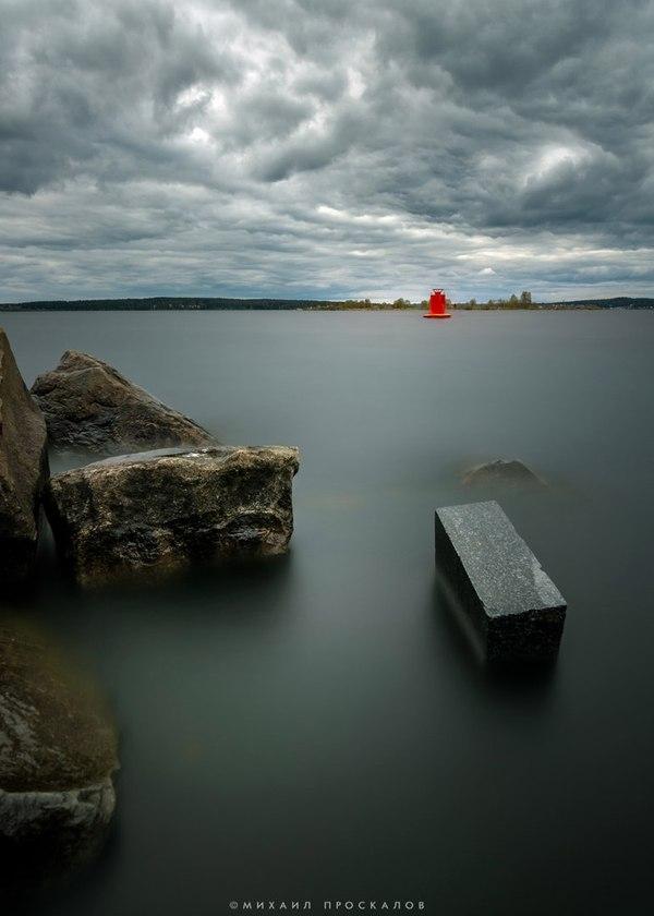 Буй на Онежском озере Длинная выдержка, фотография, природа, блог, красота природы, видео