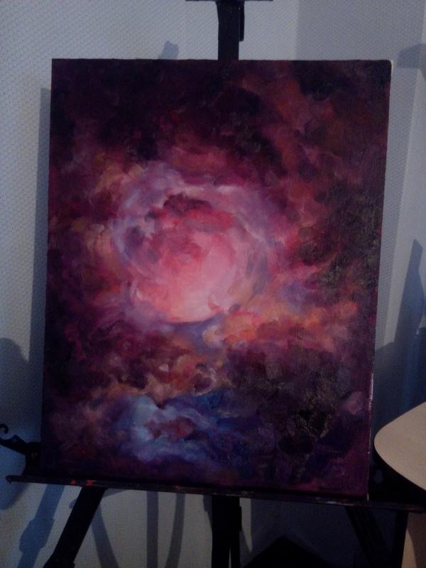 Туманность Ориона. Космос, Туманность ориона, Живопись, Rna1ssnc, Арт, Длиннопост