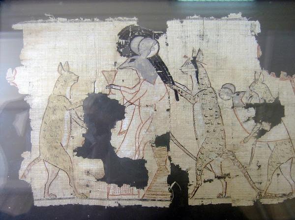 Кошки-мышки из Древнего Египта Древний египет, Кот, Мышь, Папирус, Каир