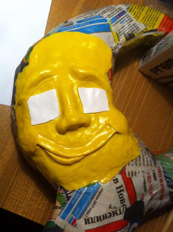Как я делала ночник. ручная работа, рукоделие с процессом, ночник, подарок для ребенка, полимерная глина, сказочный месяц, длиннопост