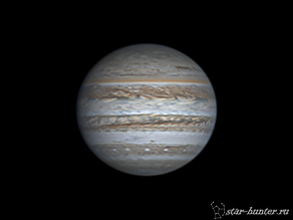 Юпитер, 16 июня 2017 года, 21:08. Юпитер, астрофото, астрономия, космос, StarHunter, АнапаДвор, гифка