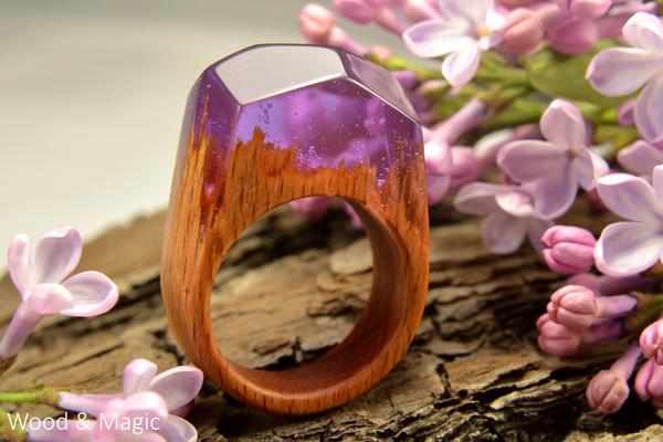 Кольца из дерева и эпоксидной смолы + творческие фото (часть 4) ручная работа, кольца из дерева, эпоксидная смола