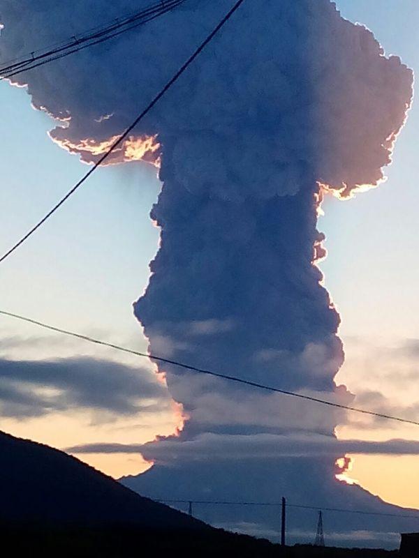 Камчатка. Извержение Шивелуча. Камчатка, извержение, вулкан, Шевелуч, Ключи, длиннопост