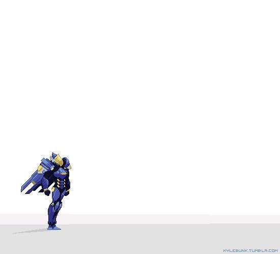 Анимации с героями Overwatch Overwatch, Pixelgif, Гифка, Длиннопост