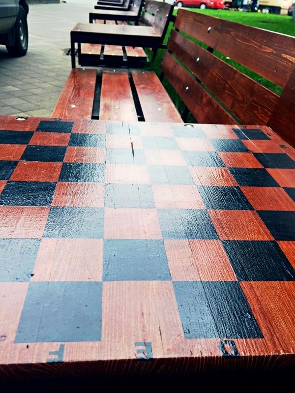 Необычные скамейки Шахматы, шашки, Краснодар, лавочка, длиннопост