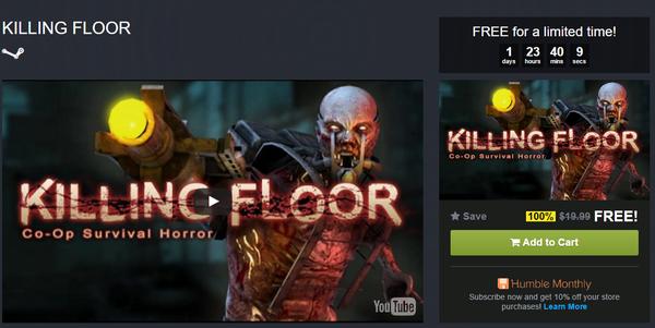 Killing Floor бесплатно в HumbleBundle Store Killing floor, Humble Bundle, Steam халява
