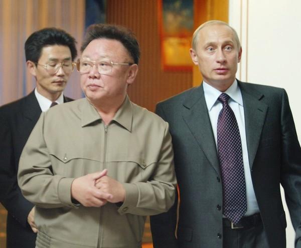 В КНДР Путина назвали учеником Ким Чен Ира Путин, Ученики, Фальшивка, Ложь, Культ, Политика, Возмущение, Гифка