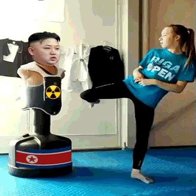 В КНДР Путина назвали учеником Ким Чен Ира Владимир Путин, Ученики, Фальшивка, Ложь, Культ, Политика, Возмущение, Гифка