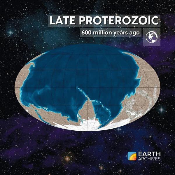 Эволюция континентов за 600 миллионов лет