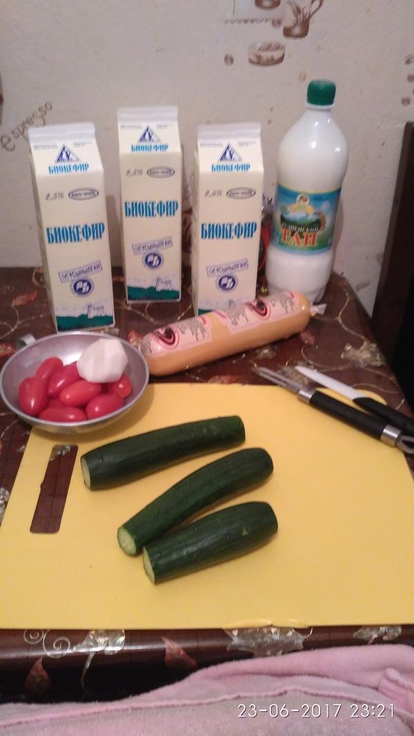 Домашняя окрошка на кефире окрошка, рецепт, окрошка на кефире, летний рецепт, длиннопост, фоторецепт