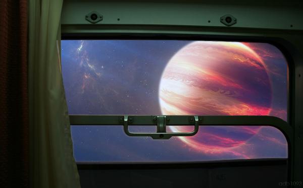 """Следующая станция """"Альфа-центавра"""" арт, Картинки, поездка, поезд, вселенная, космос, мечта, путешествия"""