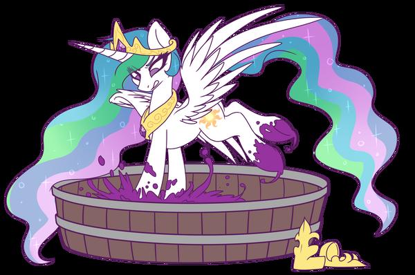 Делает молдавское вино My little pony, Princess Celestia, Ponyart