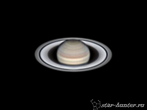Сатурн, 27 июня 2017 года, 00:38. Сатурн, планета, астрофото, астрономия, космос, StarHunter, АнапаДвор