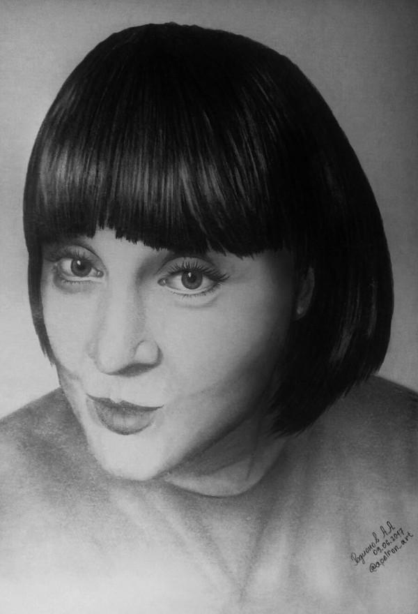 Снова пытаюсь в портреты. моё, Портрет, рисунок, карандаш
