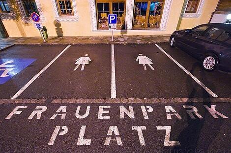 Женская парковка парковка, женщина за рулем, безопасность, Германия, длиннопост, интересное, факты