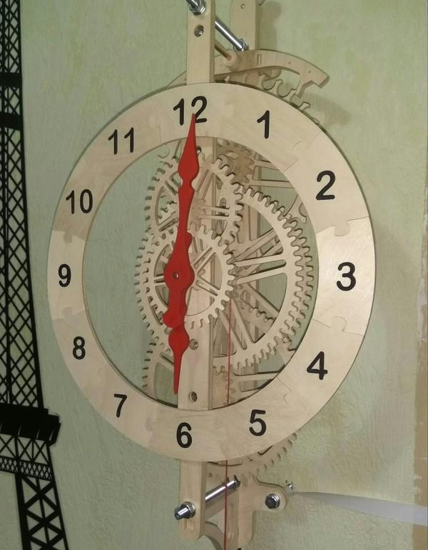 Как я сделал часы из дерева Часы из дерева, ЧПУ, Изделия из дерева, Фанера, Длиннопост