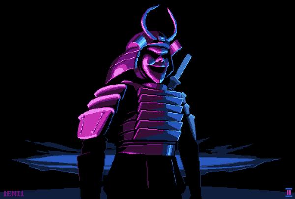 Пиксельных самураев пост Pixel art, Самурай, пиксель, моё
