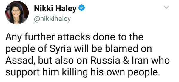 Это же чудесно. Она вообще не понимает, что говорит. Политика, США, ООН, Сирия, Россия