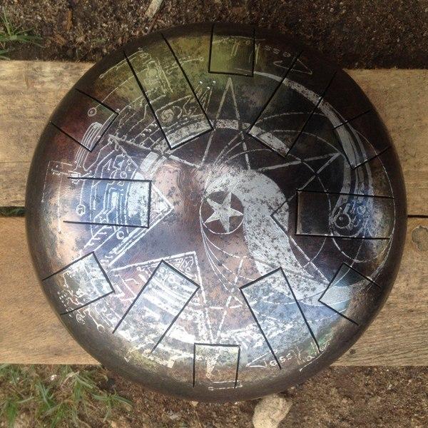 Стальных тарелок пост глюкофон, гравировка, сталь, своими руками, гравировка по металлу, музыка, музыкальные инструменты, длиннопост