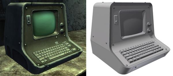 Рабочая копия настольного терминала из Fallout Моддинг, Fallout, Fallout 3, Ретро, Терминал, Компьютер, Самоделки, Видео, Длиннопост
