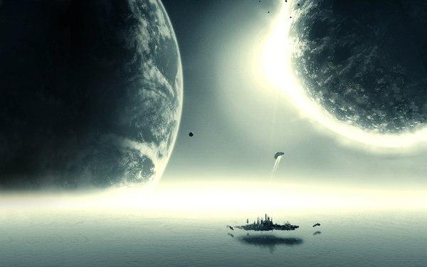 Немного космоса вам космос, звездолеты, красота, длиннопост, арт