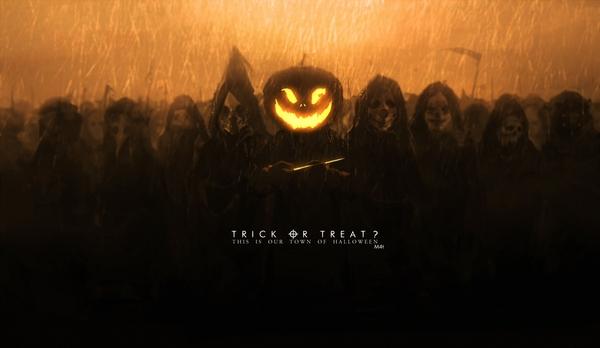 Trick or Treat? арт, хэллоуин, Mivit
